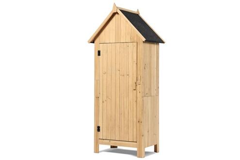 Idmarket Armoire cabane de jardin en bois naturel
