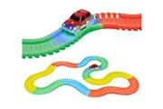 World Tech Toys World tech toys - circuit de voiture flexible, modulable, luminescent avec ses accessoires - 220 pièces--
