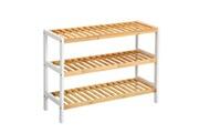 Langria 3 étagères meuble à chaussures en bambou