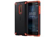 Nokia Coque rugged impact cc-502 pour nokia 5 - noire / orange