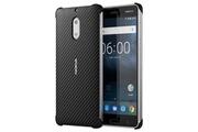 Nokia Coque carbon fibre design cc-802 pour nokia 6 - noire
