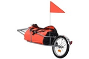 Vidaxl Remorque à bagages pour vélo avec sac orange et noir
