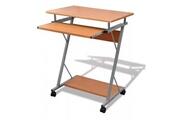 Vidaxl Table d'ordinateur avec tiroirs pour bureau brun