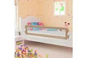 Vidaxl Barrière de sécurité de lit enfant taupe 180 x 42 cm polyester
