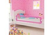 Vidaxl Barrière de sécurité de lit enfant rose 180x42 cm polyester