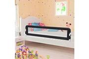 Vidaxl Barrière de sécurité de lit enfant gris 180x42 cm polyester
