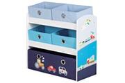 ROBA Unité de rangement pour jouets racer bleu 63,5x30x60 cm mdf