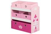 ROBA Unité de rangement pour jouets crown rose 63,5x30x60 cm mdf
