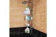 Spart Etagère de douche télescopique etagère d'angle organisateur de produits de salle de bain