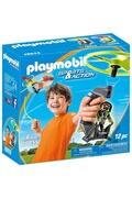 PLAYMOBIL Playmobil 70055 sport & action - top agent avec hélice volante
