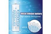 Xcsource 4pcs 18650 9900mah li ion 3.7v batteries rechargeable pour lampe torche bc939