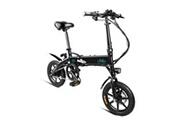 Fiido Fiido vélo électrique 250w pliant 14 pouces en alliage d'aluminium eu plug noir