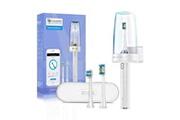 Proscenic Proscenic brosse à dents électrique usb rechargeable avec 2 brosse de remplacement-4 vitesse mode-étui de voyage-blanc h600w