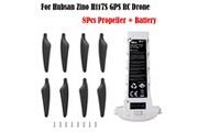 Generic 4pc pièces de rechange crash pack batterie + hélice pour hubsan zino h117s gps rc drone drone 1456