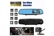 AUCUNE 4.3 « » hd double lentille voiture dvr dash cam avant et arrière miroir caméra enregistreur vidéo