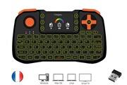 Ovegna Ovegna z10 : mini clavier 4 en 1 (souris, clavier, télécommande et console), azerty, 2.4ghz sans fil, avec touchpad, pour smart tv, mac, pc, mini pc