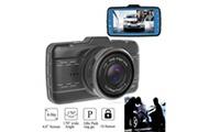 AUCUNE 4 pouces ips lcd objectif voiture dash cam fhd 1080p dashboard caméra 170 ° driving dvr