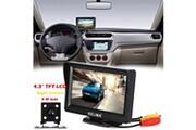 AUCUNE Système vue arrière de voiture moniteur 4,3 tft lcd + night vision de sauvegarde inversée kit caméra