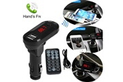 Generic Bluetooth sans fil transmetteur fm lecteur mp3 kit mains libres de voiture à distance usb tf sdtransmetteur chaingzi 568