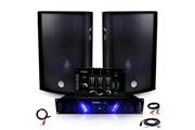 Ibiza Sound Pack sono ampli amp-300 + hp bms-12 de 2x600w table de mix + câblages