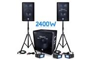 Bm Sonic Pack sonorisation dj pa bms-1812 2400w sub 46cm - 2 hp 30cm + câbles + 3 mini ledstrobes lytor