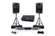 Ibiza Sound Pack pro 2 hp 1400w + amplificateur 2x350wrms + lecteur gemini cdm4000 cd/usb