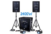 Bm Sonic Pack sonorisation dj pa bms-1812 2400w sub 46cm - 2 hp 30cm + câbles + 2 mini ledstrobes lytor