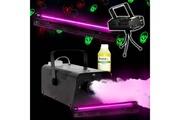 Fx Lab Spécial halloween déco uv tubes néon + machine à fumée + light têtes de mort