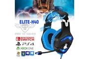 Spirit Of Gamer Casque audio elite h40 spirit of gamer - rétro éclairé bleu - 50mm ps4 xbox one pc switch