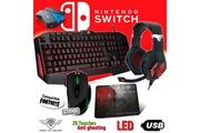 Spirit Of Gamer Pack clavier, souris, casque et tapis pro mkh3 pour switch - convertisseur inclus - rétro éclairé