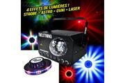 Ghost Spécial fête - jeu lumière 3en1 strobe/flower/laser vert et rouge à led rgbw + effet ovni