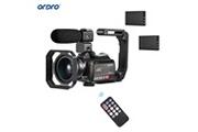 Ordro Ac5 4k wifi caméscope numérique enregistreur dv 24mp 3.1 pouces ips écran tactile 12x zoom optique détection de visage time-