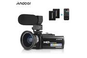 Andoer Hdv-201lm 1080p fhd caméscope numérique caméscope enregistreur dv zoom numérique 24mp 16x écran à cristaux liquides de 3,0