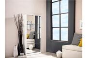 Vente-unique Meuble à chaussures doriane - 4 compartiments & miroirs - coloris blanc