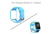 AUCUNE Montre intelligente pour tomtom runner 2/3 spark / 3 remplacement du sport montre en silicone bracelet bleu