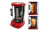Pem Grill électrique vertical rouge 1500w - poulet + kebab - pem fe-202-r