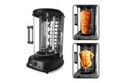 Pem Grill électrique vertical noir 1500w - poulet + kebab - pem fe-202-b