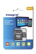 Integral Integral - Micro SD HC 512Go, Carte Mémoire UltimaPro Haute Vitesse jusqu'à 80MB/s, Classe 10, UHS-I, U1 + Adaptateur SD