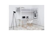 No-name Lit mezzanine lit mezzanine enfant leijona avec sommier - style contemporain - en tubes d'acier laqués époxy blanc - l 90 x l 190 cm