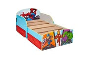 No-name Structure de lit super-héros - lit pour enfants avec espace de rangement sous le lit
