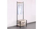 No-name Vestiaire - meuble d entree meuble d'entrée portemanteau en métal - l 60 x p 40 x h 175 cm
