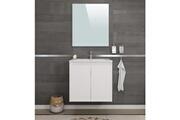 No-name Salle de bain complete delta ensemble salle de bain simple vasque l 60 cm - blanc mat