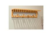 No-name Vestiaire - meuble d entree patere murale en bambou nature laqué transparent - 60 x 13 x 15 cm