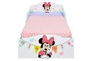 No-name Lit combine minnie mouse - lit enfant en bois 140 * 70 cm avec tiroirs de rangement sous le lit
