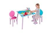 No-name Structure de lit disney princesses ariel - ensemble table et 2 chaises pour enfants