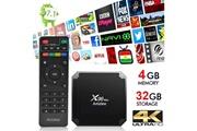 Artizlee Tv box 4go/32go - boîtier tvx96 max décodeur multimédia android 7.1 4gb+32gb wifi amlogic s905w quad core smart box tv