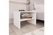 Vidaxl 2 pcs tables de chevet blanc 40 x 30 x 30 cm aggloméré