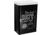 Promobo Boite de rangement en métal sucre collection rétro noir et blanc