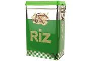 Promobo Boite de rangement en métal riz réclame vintage