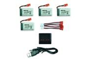 Generic Batterie lipo 4 * 3.7v 500mah + chargeur pour syma x5c pour quadricoptère drone cx-30 drone